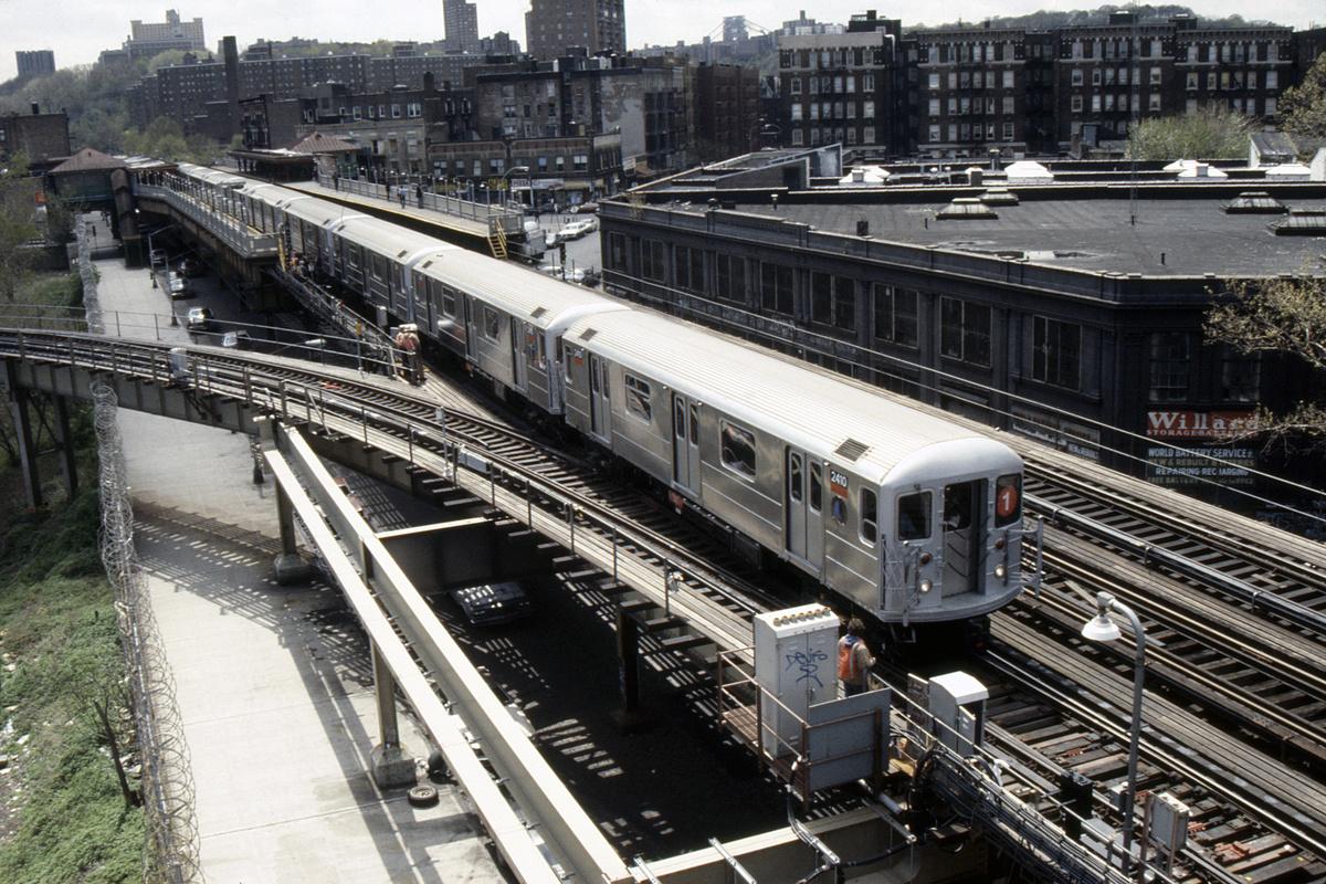 (339k, 1024x690)<br><b>Country:</b> United States<br><b>City:</b> New York<br><b>System:</b> New York City Transit<br><b>Line:</b> IRT West Side Line<br><b>Location:</b> 207th Street <br><b>Route:</b> 1<br><b>Car:</b> R-62A (Bombardier, 1984-1987)  2410 <br><b>Collection of:</b> Collection of nycsubway.org <br><b>Notes:</b> 1980s<br><b>Viewed (this week/total):</b> 2 / 4320