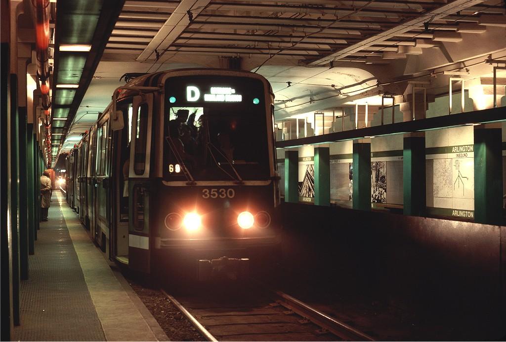 (190k, 1024x694)<br><b>Country:</b> United States<br><b>City:</b> Boston, MA<br><b>System:</b> MBTA<br><b>Line:</b> MBTA Green <br><b>Location:</b> Arlington <br><b>Car:</b> MBTA Standard LRV (Boeing-Vertol, 1976-78)  3530 <br><b>Photo by:</b> Steve Zabel<br><b>Collection of:</b> Joe Testagrose<br><b>Date:</b> 6/11/1980<br><b>Viewed (this week/total):</b> 0 / 729