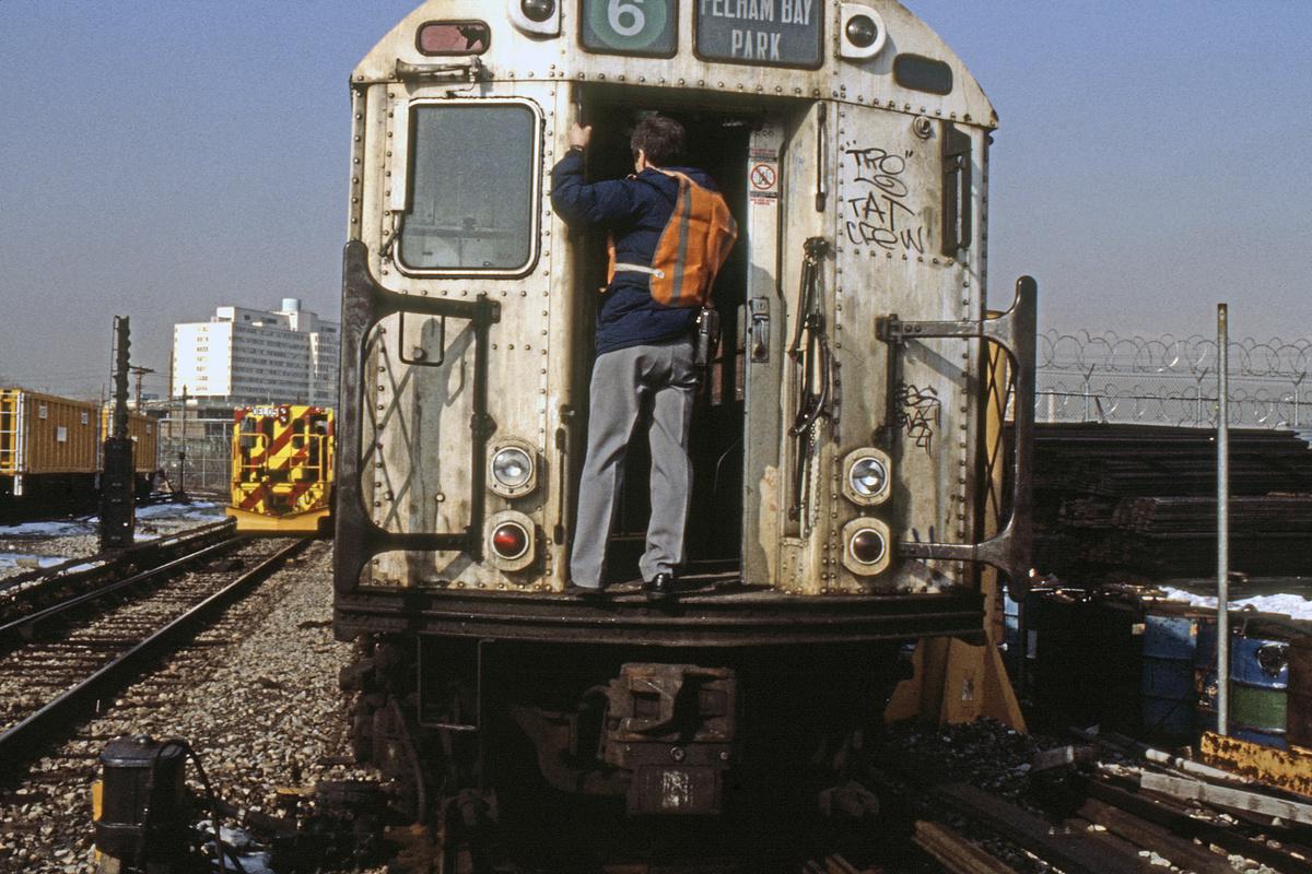 (350k, 1024x682)<br><b>Country:</b> United States<br><b>City:</b> New York<br><b>System:</b> New York City Transit<br><b>Location:</b> Westchester Yard<br><b>Car:</b> R-33 Main Line (St. Louis, 1962-63)  <br><b>Collection of:</b> Collection of nycsubway.org <br><b>Notes:</b> 1980s<br><b>Viewed (this week/total):</b> 11 / 2127