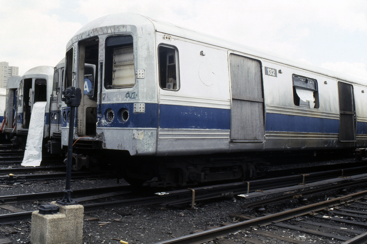 (418k, 1024x683)<br><b>Country:</b> United States<br><b>City:</b> New York<br><b>System:</b> New York City Transit<br><b>Location:</b> Coney Island Yard<br><b>Car:</b> R-44 (St. Louis, 1971-73) 132 <br><b>Collection of:</b> Collection of nycsubway.org <br><b>Notes:</b> 1980s<br><b>Viewed (this week/total):</b> 5 / 4733