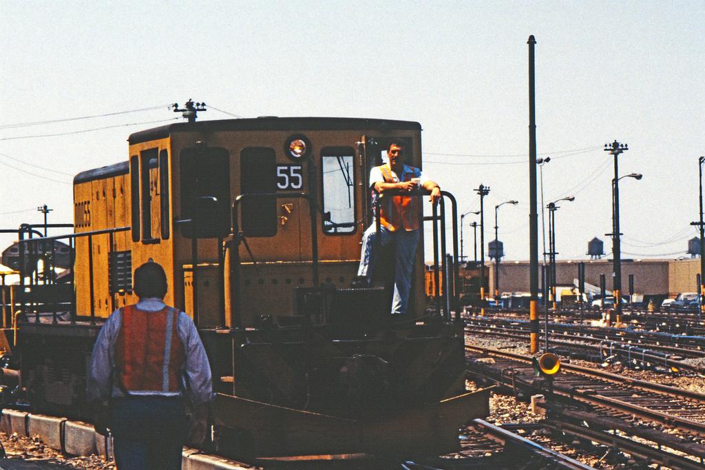 (260k, 1024x679)<br><b>Country:</b> United States<br><b>City:</b> New York<br><b>System:</b> New York City Transit<br><b>Location:</b> 36th Street Yard<br><b>Car:</b> R-41 Locomotive  55 <br><b>Collection of:</b> Collection of nycsubway.org <br><b>Notes:</b> 1980s<br><b>Viewed (this week/total):</b> 3 / 953