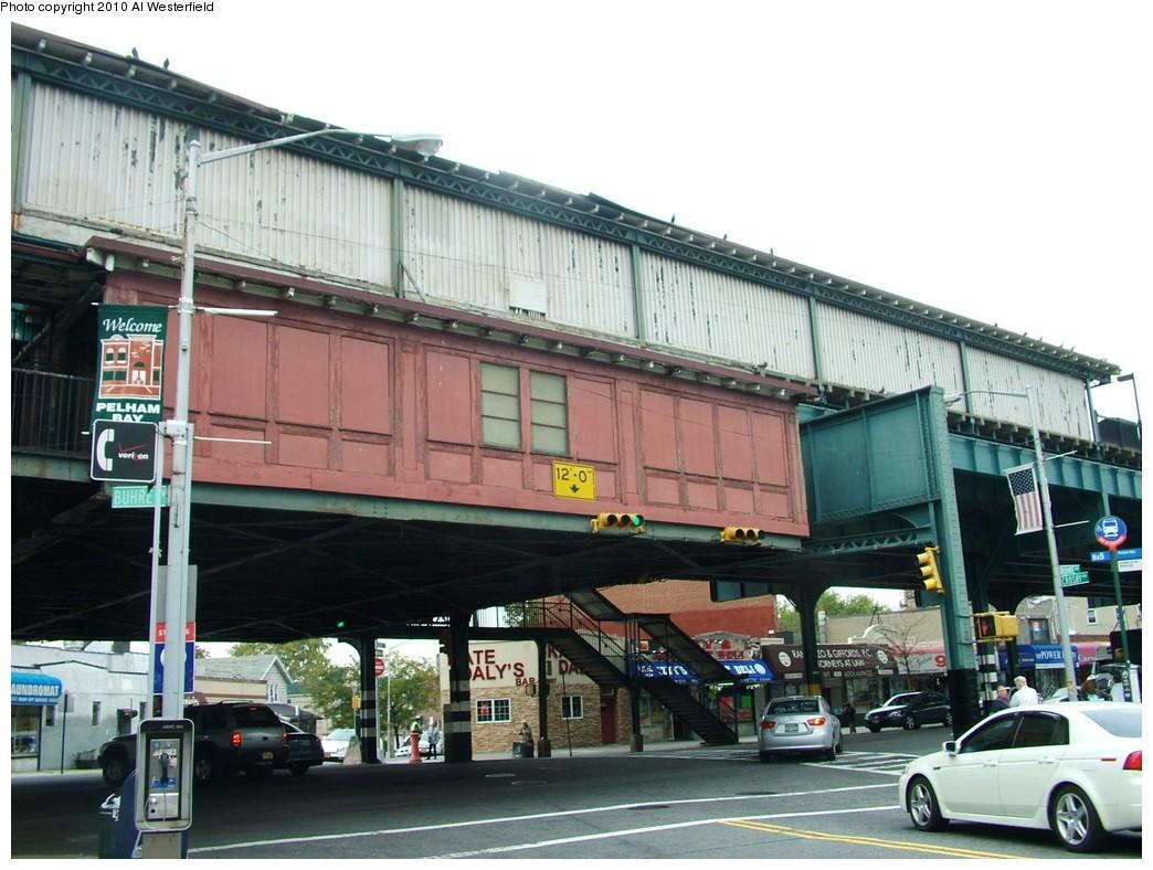 (197k, 1044x788)<br><b>Country:</b> United States<br><b>City:</b> New York<br><b>System:</b> New York City Transit<br><b>Line:</b> IRT Pelham Line<br><b>Location:</b> Buhre Avenue <br><b>Photo by:</b> Al Westerfield<br><b>Date:</b> 2010<br><b>Notes:</b> Mezzanine viewed from street.<br><b>Viewed (this week/total):</b> 0 / 940