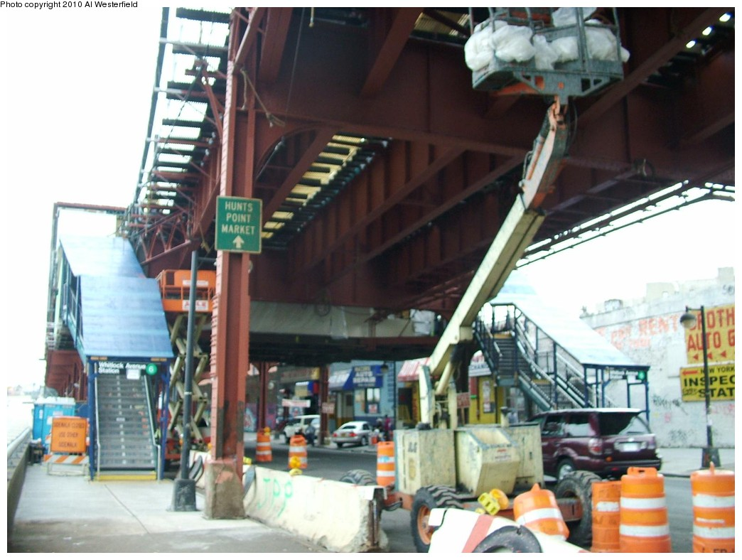 (174k, 1044x788)<br><b>Country:</b> United States<br><b>City:</b> New York<br><b>System:</b> New York City Transit<br><b>Line:</b> IRT Pelham Line<br><b>Location:</b> Whitlock Avenue <br><b>Photo by:</b> Al Westerfield<br><b>Date:</b> 2010<br><b>Notes:</b> View from street.<br><b>Viewed (this week/total):</b> 0 / 1292