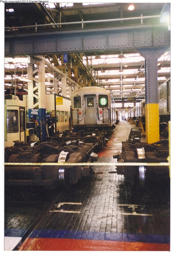(215k, 709x1044)<br><b>Country:</b> United States<br><b>City:</b> New York<br><b>System:</b> New York City Transit<br><b>Location:</b> 207th Street Shop<br><b>Car:</b> R-62A (Bombardier, 1984-1987)   <br><b>Photo by:</b> Daniel Negron<br><b>Notes:</b> 1990s<br><b>Viewed (this week/total):</b> 0 / 716