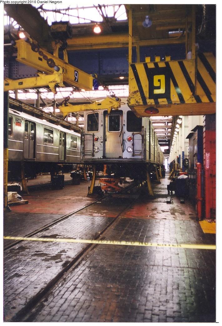 (226k, 711x1044)<br><b>Country:</b> United States<br><b>City:</b> New York<br><b>System:</b> New York City Transit<br><b>Location:</b> 207th Street Shop<br><b>Car:</b> R-62A (Bombardier, 1984-1987)  2346 <br><b>Photo by:</b> Daniel Negron<br><b>Notes:</b> 1990s<br><b>Viewed (this week/total):</b> 0 / 685