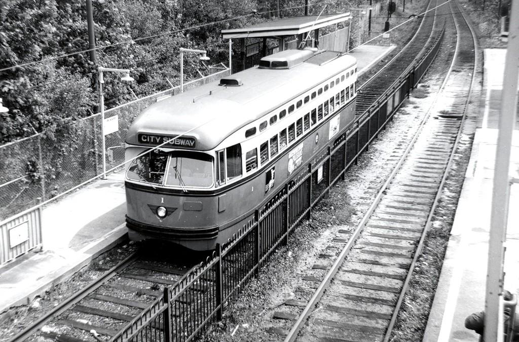 (269k, 1024x675)<br><b>Country:</b> United States<br><b>City:</b> Newark, NJ<br><b>System:</b> Newark City Subway<br><b>Location:</b> Davenport Avenue <br><b>Car:</b> NJTransit/PSCT PCC (Ex-Twin City) (St. Louis Car Co., 1946-1947) 1 <br><b>Collection of:</b> George Conrad Collection<br><b>Date:</b> 5/4/1968<br><b>Viewed (this week/total):</b> 0 / 626