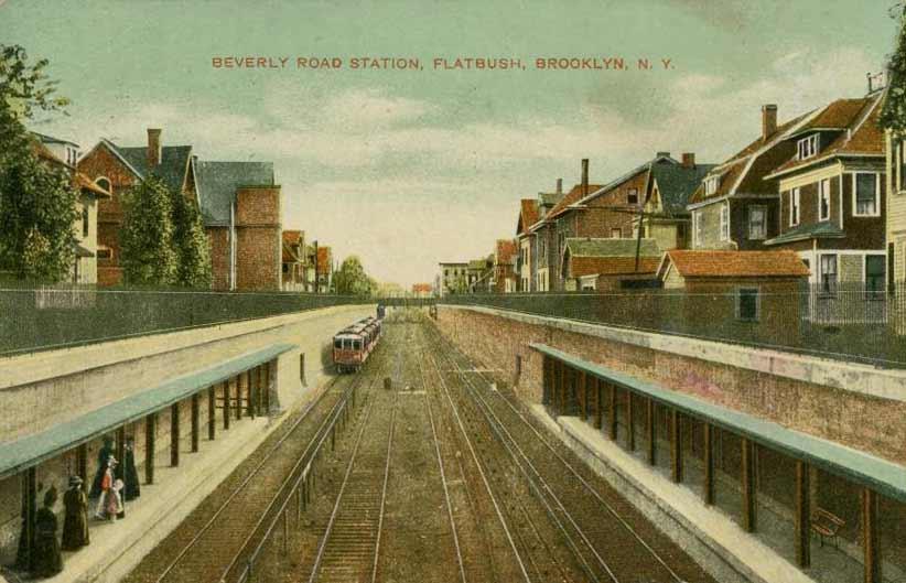 (54k, 822x529)<br><b>Country:</b> United States<br><b>City:</b> New York<br><b>System:</b> New York City Transit<br><b>Line:</b> BMT Brighton Line<br><b>Location:</b> Beverley Road <br><b>Date:</b> 1908<br><b>Viewed (this week/total):</b> 0 / 1091