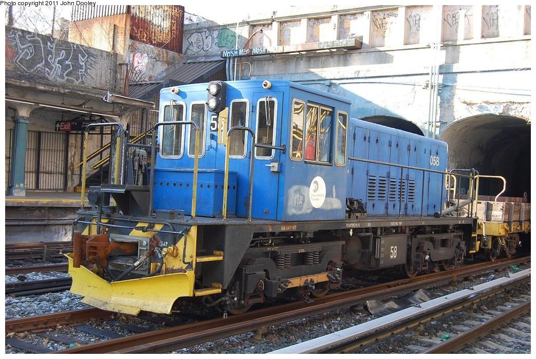 (299k, 1044x699)<br><b>Country:</b> United States<br><b>City:</b> New York<br><b>System:</b> New York City Transit<br><b>Line:</b> BMT Sea Beach Line<br><b>Location:</b> 18th Avenue <br><b>Route:</b> Work Service<br><b>Car:</b> R-41 Locomotive  58 <br><b>Photo by:</b> John Dooley<br><b>Date:</b> 12/17/2010<br><b>Viewed (this week/total):</b> 2 / 1065