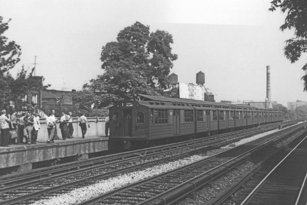(181k, 1024x598)<br><b>Country:</b> United States<br><b>City:</b> New York<br><b>System:</b> New York City Transit<br><b>Line:</b> BMT Brighton Line<br><b>Location:</b> Avenue M <br><b>Route:</b> Fan Trip<br><b>Car:</b> BMT Multi 7017 <br><b>Collection of:</b> George Conrad Collection<br><b>Date:</b> 7/17/1961<br><b>Viewed (this week/total):</b> 5 / 2410