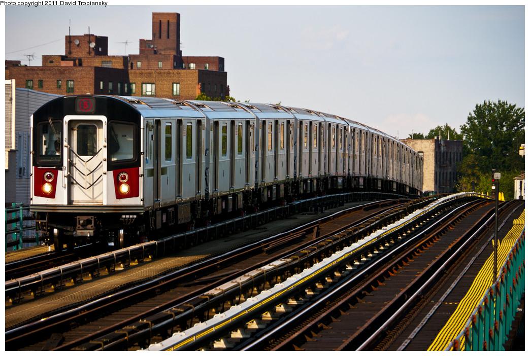 (313k, 1044x702)<br><b>Country:</b> United States<br><b>City:</b> New York<br><b>System:</b> New York City Transit<br><b>Line:</b> IRT Pelham Line<br><b>Location:</b> St. Lawrence Avenue <br><b>Route:</b> 6<br><b>Car:</b> R-142A (Primary Order, Kawasaki, 1999-2002)  7601 <br><b>Photo by:</b> David Tropiansky<br><b>Date:</b> 7/29/2010<br><b>Viewed (this week/total):</b> 1 / 1182