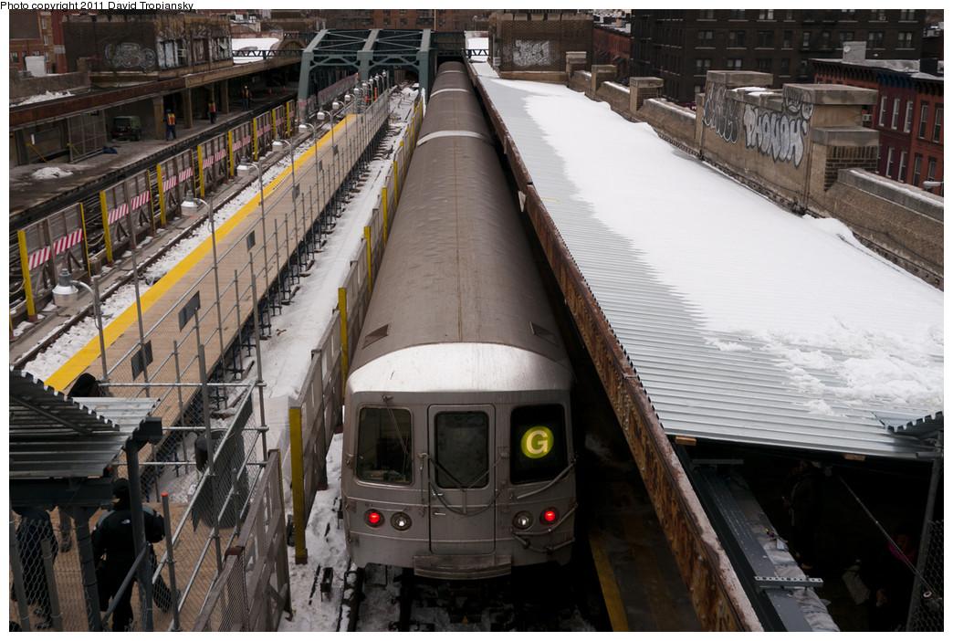 (266k, 1044x702)<br><b>Country:</b> United States<br><b>City:</b> New York<br><b>System:</b> New York City Transit<br><b>Line:</b> IND Crosstown Line<br><b>Location:</b> 4th Avenue <br><b>Route:</b> G<br><b>Car:</b> R-46 (Pullman-Standard, 1974-75)  <br><b>Photo by:</b> David Tropiansky<br><b>Date:</b> 1/17/2011<br><b>Viewed (this week/total):</b> 3 / 1457