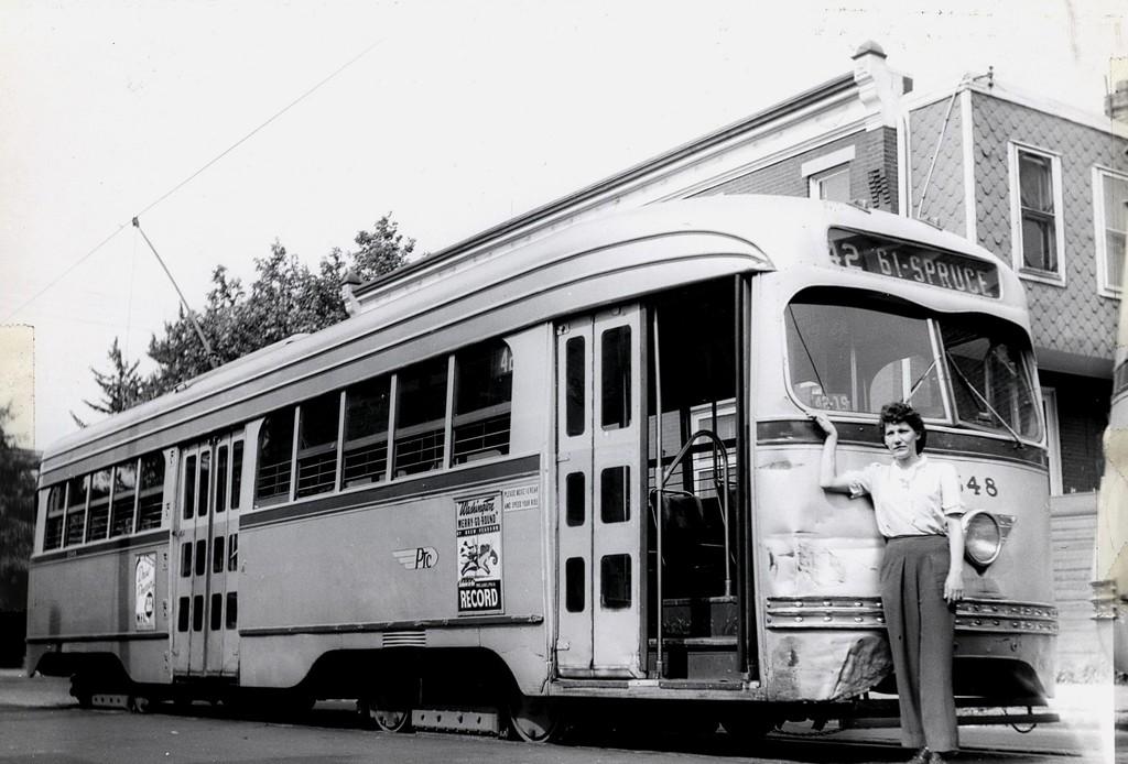 (167k, 1024x694)<br><b>Country:</b> United States<br><b>City:</b> Philadelphia, PA<br><b>System:</b> SEPTA (or Predecessor)<br><b>Route:</b> Rt 42<br><b>Car:</b> PTC/SEPTA Pre-war Air-car PCC (St.Louis, 1940)  2548 <br><b>Collection of:</b> George Conrad Collection<br><b>Date:</b> 7/4/1944<br><b>Viewed (this week/total):</b> 0 / 653