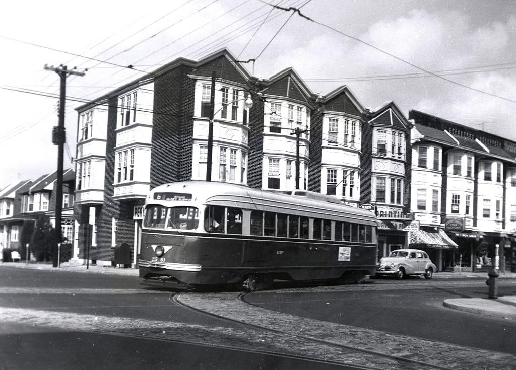(222k, 1024x735)<br><b>Country:</b> United States<br><b>City:</b> Philadelphia, PA<br><b>System:</b> SEPTA (or Predecessor)<br><b>Line:</b> Rt. 6-Olney/City Line <br><b>Car:</b> PTC/SEPTA Pre-war Air-car PCC (St.Louis, 1940)  2561 <br><b>Collection of:</b> George Conrad Collection<br><b>Date:</b> 9/16/1959<br><b>Notes:</b> Old York & Nedro<br><b>Viewed (this week/total):</b> 0 / 1046