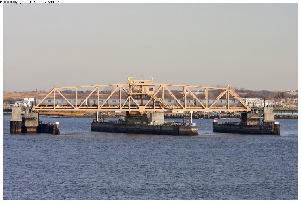 (214k, 1044x703)<br><b>Country:</b> United States<br><b>City:</b> New York<br><b>System:</b> New York City Transit<br><b>Line:</b> IND Rockaway<br><b>Location:</b> South Channel Bridge <br><b>Route:</b> A<br><b>Car:</b> R-46 (Pullman-Standard, 1974-75) 5878-5881 <br><b>Photo by:</b> Chris C. Shaffer<br><b>Date:</b> 1/20/2011<br><b>Notes:</b> With 5878/5879 ... 5880/5881<br><b>Viewed (this week/total):</b> 1 / 861