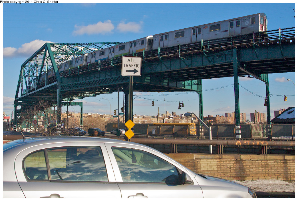(302k, 1044x703)<br><b>Country:</b> United States<br><b>City:</b> New York<br><b>System:</b> New York City Transit<br><b>Line:</b> IRT Pelham Line<br><b>Location:</b> Whitlock Avenue <br><b>Route:</b> 6<br><b>Car:</b> R-142A (Primary Order, Kawasaki, 1999-2002)  7360 <br><b>Photo by:</b> Chris C. Shaffer<br><b>Date:</b> 2/8/2011<br><b>Viewed (this week/total):</b> 4 / 1443
