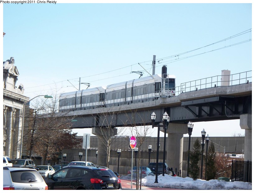 (138k, 820x620)<br><b>Country:</b> United States<br><b>City:</b> Jersey City, NJ<br><b>System:</b> Hudson Bergen Light Rail<br><b>Location:</b> Bayonne 8th Street <br><b>Car:</b> NJT-HBLR LRV (Kinki-Sharyo, 1998-99)  2005 <br><b>Photo by:</b> Chris Reidy<br><b>Date:</b> 2/9/2011<br><b>Viewed (this week/total):</b> 0 / 772