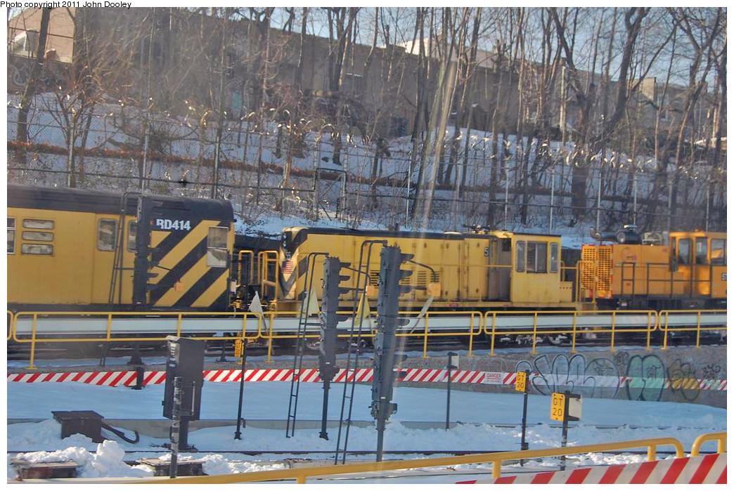 (308k, 1044x699)<br><b>Country:</b> United States<br><b>City:</b> New York<br><b>System:</b> New York City Transit<br><b>Location:</b> 36th Street Yard<br><b>Route:</b> Work Service<br><b>Car:</b> R-41 Locomotive  55 <br><b>Photo by:</b> John Dooley<br><b>Date:</b> 12/29/2010<br><b>Viewed (this week/total):</b> 2 / 857