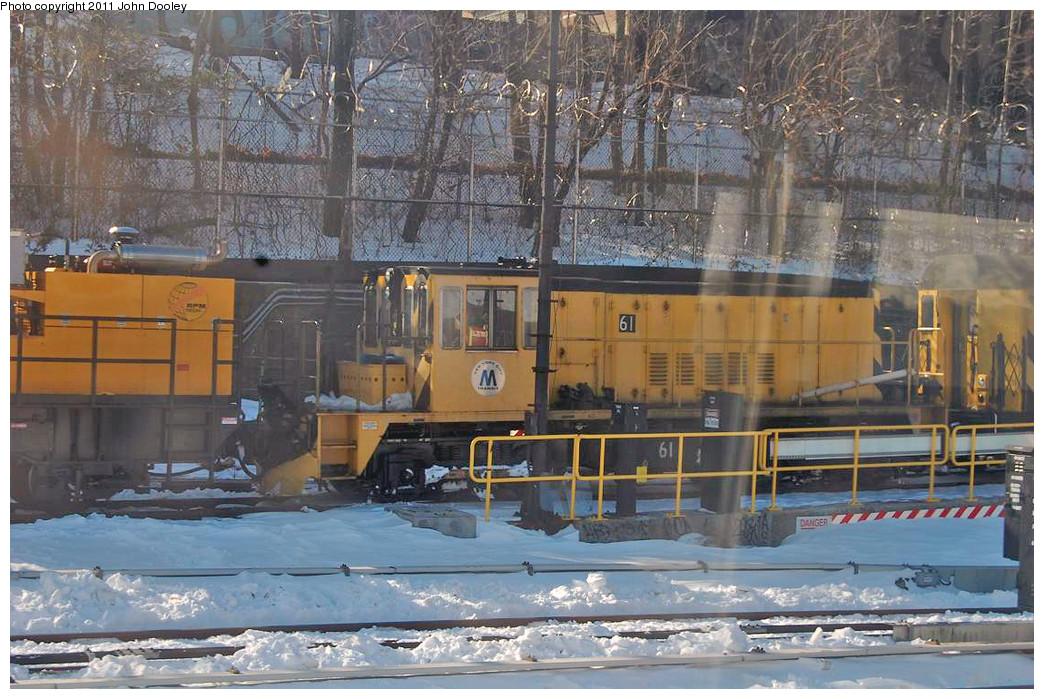(288k, 1044x699)<br><b>Country:</b> United States<br><b>City:</b> New York<br><b>System:</b> New York City Transit<br><b>Location:</b> 36th Street Yard<br><b>Route:</b> Work Service<br><b>Car:</b> R-43 Locomotive  61 <br><b>Photo by:</b> John Dooley<br><b>Date:</b> 12/29/2010<br><b>Viewed (this week/total):</b> 3 / 582