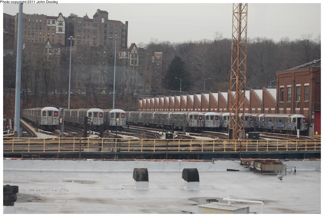 (242k, 1044x699)<br><b>Country:</b> United States<br><b>City:</b> New York<br><b>System:</b> New York City Transit<br><b>Location:</b> 240th Street Yard<br><b>Car:</b> R-62A (Bombardier, 1984-1987)   <br><b>Photo by:</b> John Dooley<br><b>Date:</b> 12/10/2010<br><b>Viewed (this week/total):</b> 0 / 1559