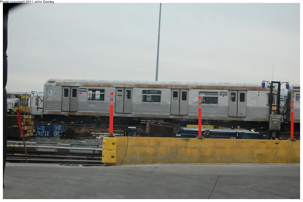 (166k, 1044x699)<br><b>Country:</b> United States<br><b>City:</b> New York<br><b>System:</b> New York City Transit<br><b>Location:</b> East New York Yard/Shops<br><b>Car:</b> R-42 (St. Louis, 1969-1970)  4825 <br><b>Photo by:</b> John Dooley<br><b>Date:</b> 12/16/2010<br><b>Viewed (this week/total):</b> 2 / 1048