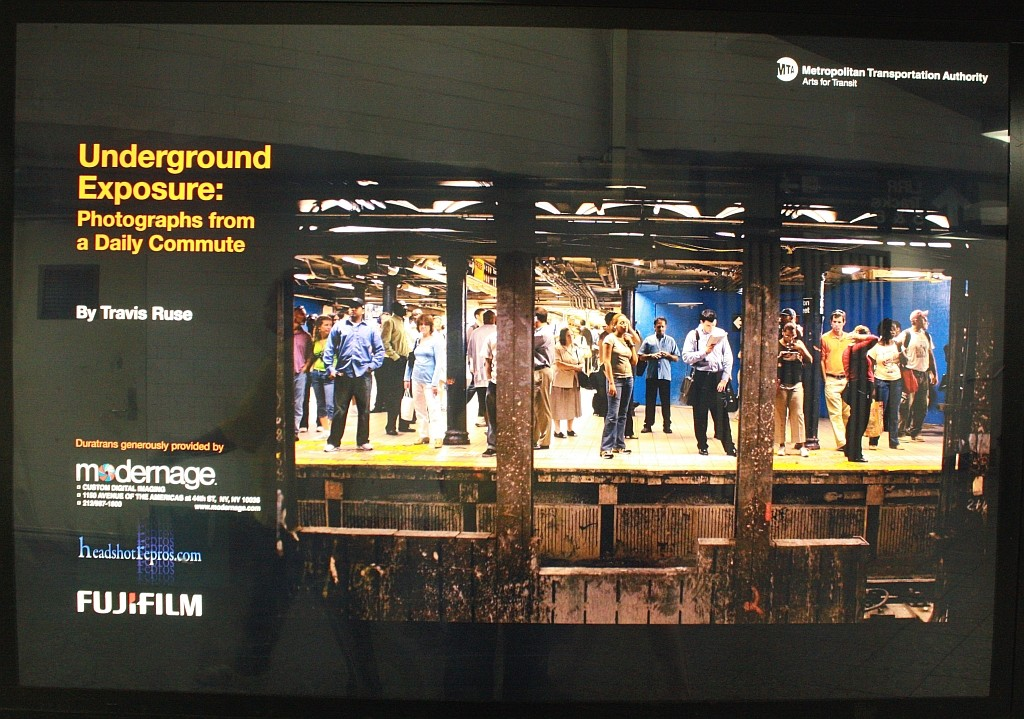 (245k, 1024x719)<br><b>Country:</b> United States<br><b>City:</b> New York<br><b>System:</b> New York City Transit<br><b>Line:</b> BMT Brighton Line<br><b>Location:</b> Atlantic Avenue <br><b>Photo by:</b> John Barnes<br><b>Date:</b> 6/25/2010<br><b>Artwork:</b> <i>Underground Exposure: Photographs from a Daily Commute</i>, Travis Ruse (2010).<br><b>Viewed (this week/total):</b> 6 / 1223