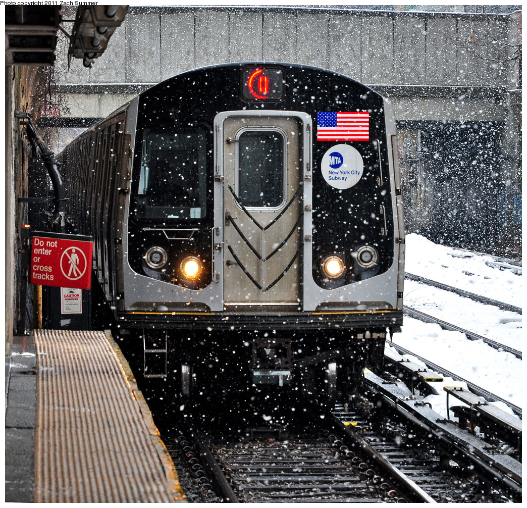 (533k, 1044x1006)<br><b>Country:</b> United States<br><b>City:</b> New York<br><b>System:</b> New York City Transit<br><b>Line:</b> BMT Brighton Line<br><b>Location:</b> Cortelyou Road <br><b>Route:</b> Q<br><b>Car:</b> R-160A/R-160B Series (Number Unknown)  <br><b>Photo by:</b> Zach Summer<br><b>Date:</b> 1/7/2011<br><b>Viewed (this week/total):</b> 1 / 1136