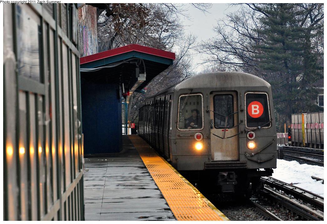 (331k, 1044x715)<br><b>Country:</b> United States<br><b>City:</b> New York<br><b>System:</b> New York City Transit<br><b>Line:</b> BMT Brighton Line<br><b>Location:</b> Avenue H <br><b>Route:</b> B<br><b>Car:</b> R-68 (Westinghouse-Amrail, 1986-1988)  2854 <br><b>Photo by:</b> Zach Summer<br><b>Date:</b> 1/7/2011<br><b>Viewed (this week/total):</b> 2 / 1041