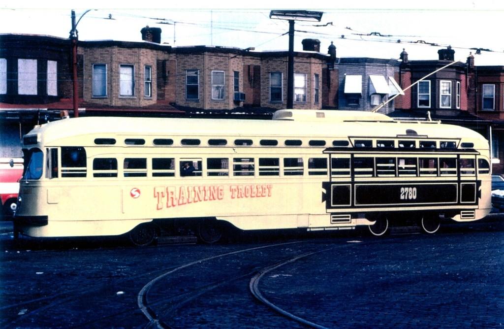 (186k, 1024x668)<br><b>Country:</b> United States<br><b>City:</b> Philadelphia, PA<br><b>System:</b> SEPTA (or Predecessor)<br><b>Location:</b> Luzerne Depot <br><b>Car:</b> PTC/SEPTA Postwar All-electric PCC (St.Louis, 1947)  2780 <br><b>Collection of:</b> George Conrad Collection<br><b>Date:</b> 5/6/1979<br><b>Viewed (this week/total):</b> 0 / 632