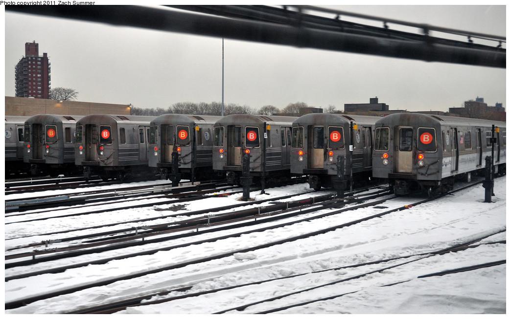 (231k, 1044x653)<br><b>Country:</b> United States<br><b>City:</b> New York<br><b>System:</b> New York City Transit<br><b>Location:</b> Coney Island Yard<br><b>Route:</b> B layups<br><b>Car:</b> R-68/R-68A Series (Number Unknown)  <br><b>Photo by:</b> Zach Summer<br><b>Date:</b> 1/8/2011<br><b>Viewed (this week/total):</b> 0 / 2125