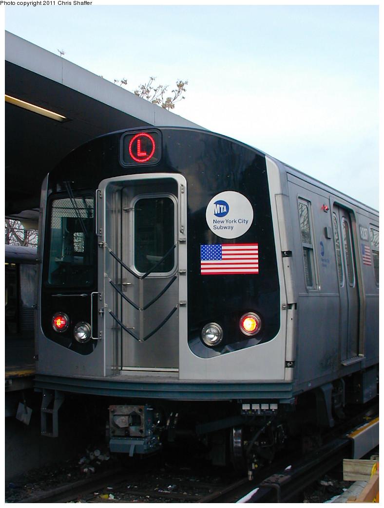 (206k, 788x1044)<br><b>Country:</b> United States<br><b>City:</b> New York<br><b>System:</b> New York City Transit<br><b>Line:</b> BMT Canarsie Line<br><b>Location:</b> Rockaway Parkway <br><b>Route:</b> L<br><b>Car:</b> R-143 (Kawasaki, 2001-2002) 8237 <br><b>Photo by:</b> Chris C. Shaffer<br><b>Date:</b> 12/8/2002<br><b>Viewed (this week/total):</b> 0 / 916