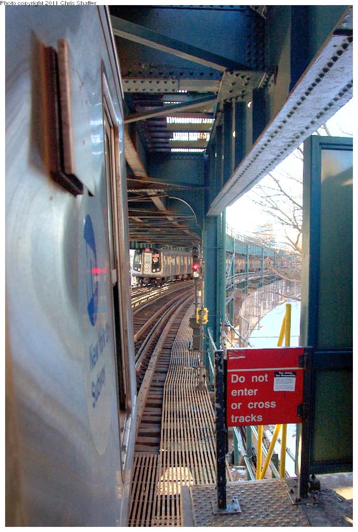(617k, 703x1044)<br><b>Country:</b> United States<br><b>City:</b> New York<br><b>System:</b> New York City Transit<br><b>Line:</b> BMT Culver Line<br><b>Location:</b> West 8th Street <br><b>Route:</b> F<br><b>Car:</b> R-160A/R-160B Series (Number Unknown)  <br><b>Photo by:</b> Chris C. Shaffer<br><b>Date:</b> 2/11/2011<br><b>Viewed (this week/total):</b> 0 / 1453