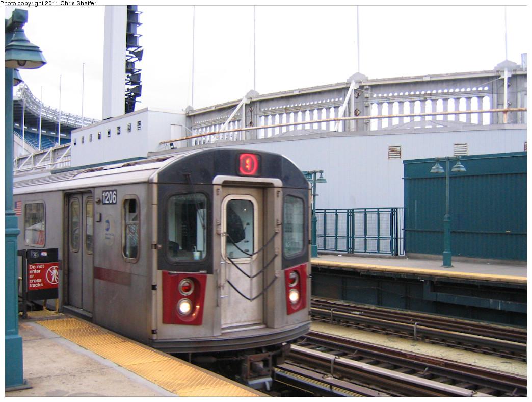 (257k, 1044x788)<br><b>Country:</b> United States<br><b>City:</b> New York<br><b>System:</b> New York City Transit<br><b>Line:</b> IRT Woodlawn Line<br><b>Location:</b> 161st Street/River Avenue (Yankee Stadium) <br><b>Route:</b> 4<br><b>Car:</b> R-142 (Option Order, Bombardier, 2002-2003)  1206 <br><b>Photo by:</b> Chris C. Shaffer<br><b>Date:</b> 1/15/2008<br><b>Viewed (this week/total):</b> 1 / 975