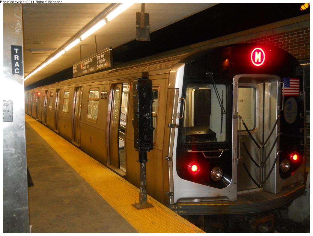 (264k, 1044x788)<br><b>Country:</b> United States<br><b>City:</b> New York<br><b>System:</b> New York City Transit<br><b>Line:</b> BMT Myrtle Avenue Line<br><b>Location:</b> Metropolitan Avenue <br><b>Route:</b> M<br><b>Car:</b> R-160A-1 (Alstom, 2005-2008, 4 car sets)  8424 <br><b>Photo by:</b> Robert Mencher<br><b>Date:</b> 3/26/2011<br><b>Viewed (this week/total):</b> 0 / 1717
