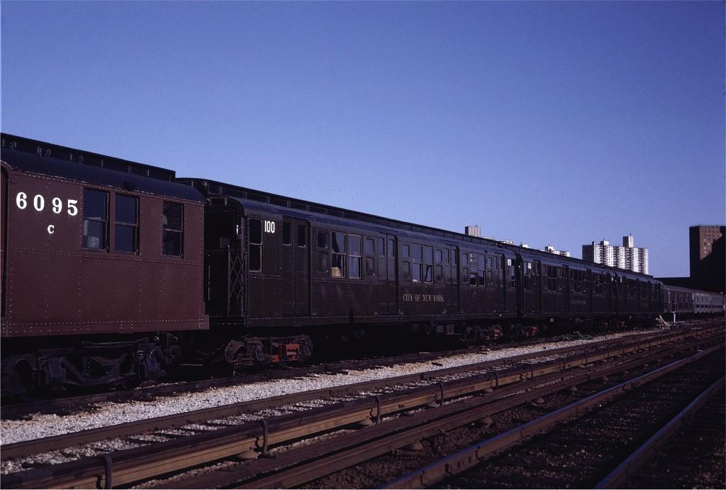 (163k, 1024x691)<br><b>Country:</b> United States<br><b>City:</b> New York<br><b>System:</b> New York City Transit<br><b>Location:</b> Coney Island Yard<br><b>Car:</b> R-1 (American Car & Foundry, 1930-1931) 100 <br><b>Photo by:</b> Steve Zabel<br><b>Collection of:</b> Joe Testagrose<br><b>Date:</b> 5/22/1971<br><b>Viewed (this week/total):</b> 9 / 666