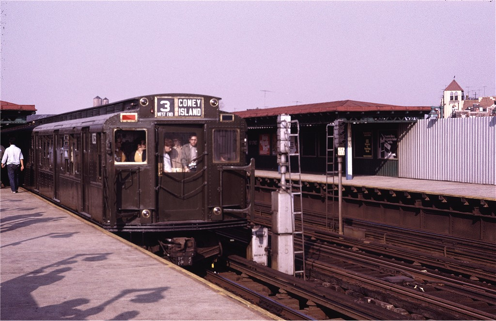 (194k, 1024x662)<br><b>Country:</b> United States<br><b>City:</b> New York<br><b>System:</b> New York City Transit<br><b>Line:</b> BMT West End Line<br><b>Location:</b> 50th Street <br><b>Route:</b> Fan Trip<br><b>Car:</b> R-1 (American Car & Foundry, 1930-1931) 103 <br><b>Photo by:</b> Doug Grotjahn<br><b>Collection of:</b> Joe Testagrose<br><b>Date:</b> 10/30/1971<br><b>Viewed (this week/total):</b> 5 / 964