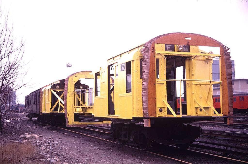 (175k, 1024x680)<br><b>Country:</b> United States<br><b>City:</b> New York<br><b>System:</b> New York City Transit<br><b>Location:</b> Coney Island Yard<br><b>Car:</b> R-1 (American Car & Foundry, 1930-1931) 192 <br><b>Photo by:</b> Doug Grotjahn<br><b>Collection of:</b> Joe Testagrose<br><b>Date:</b> 2/2/1969<br><b>Viewed (this week/total):</b> 1 / 1017
