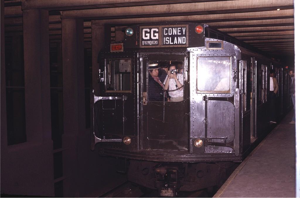 (154k, 1024x677)<br><b>Country:</b> United States<br><b>City:</b> New York<br><b>System:</b> New York City Transit<br><b>Line:</b> IND Crosstown Line<br><b>Location:</b> Carroll Street <br><b>Route:</b> Fan Trip<br><b>Car:</b> R-4 (American Car & Foundry, 1932-1933) 484 <br><b>Photo by:</b> Joe Testagrose<br><b>Date:</b> 5/5/1974<br><b>Viewed (this week/total):</b> 0 / 1848