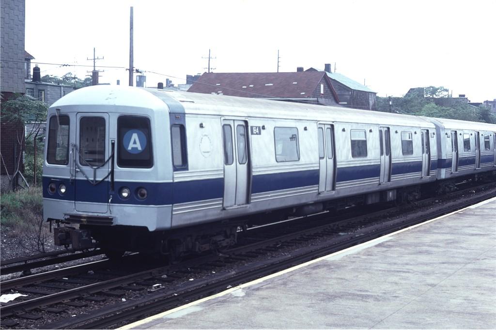 (155k, 1024x681)<br><b>Country:</b> United States<br><b>City:</b> New York<br><b>System:</b> New York City Transit<br><b>Location:</b> Rockaway Park Yard<br><b>Route:</b> A<br><b>Car:</b> R-44 (St. Louis, 1971-73) 184 <br><b>Photo by:</b> Doug Grotjahn<br><b>Collection of:</b> Joe Testagrose<br><b>Date:</b> 9/3/1979<br><b>Viewed (this week/total):</b> 0 / 1329