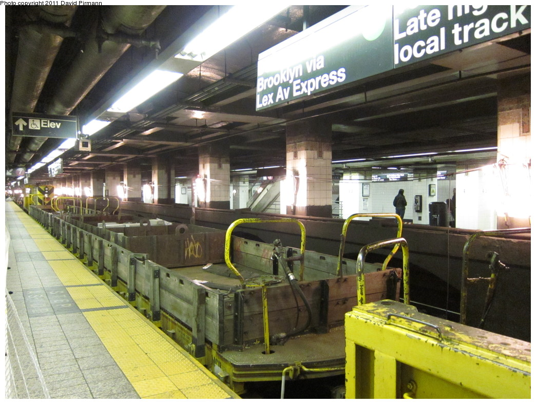 (244k, 1044x788)<br><b>Country:</b> United States<br><b>City:</b> New York<br><b>System:</b> New York City Transit<br><b>Line:</b> IRT East Side Line<br><b>Location:</b> Grand Central <br><b>Route:</b> Work Service<br><b>Car:</b> Flat Car  <br><b>Photo by:</b> David Pirmann<br><b>Date:</b> 4/9/2011<br><b>Viewed (this week/total):</b> 1 / 968