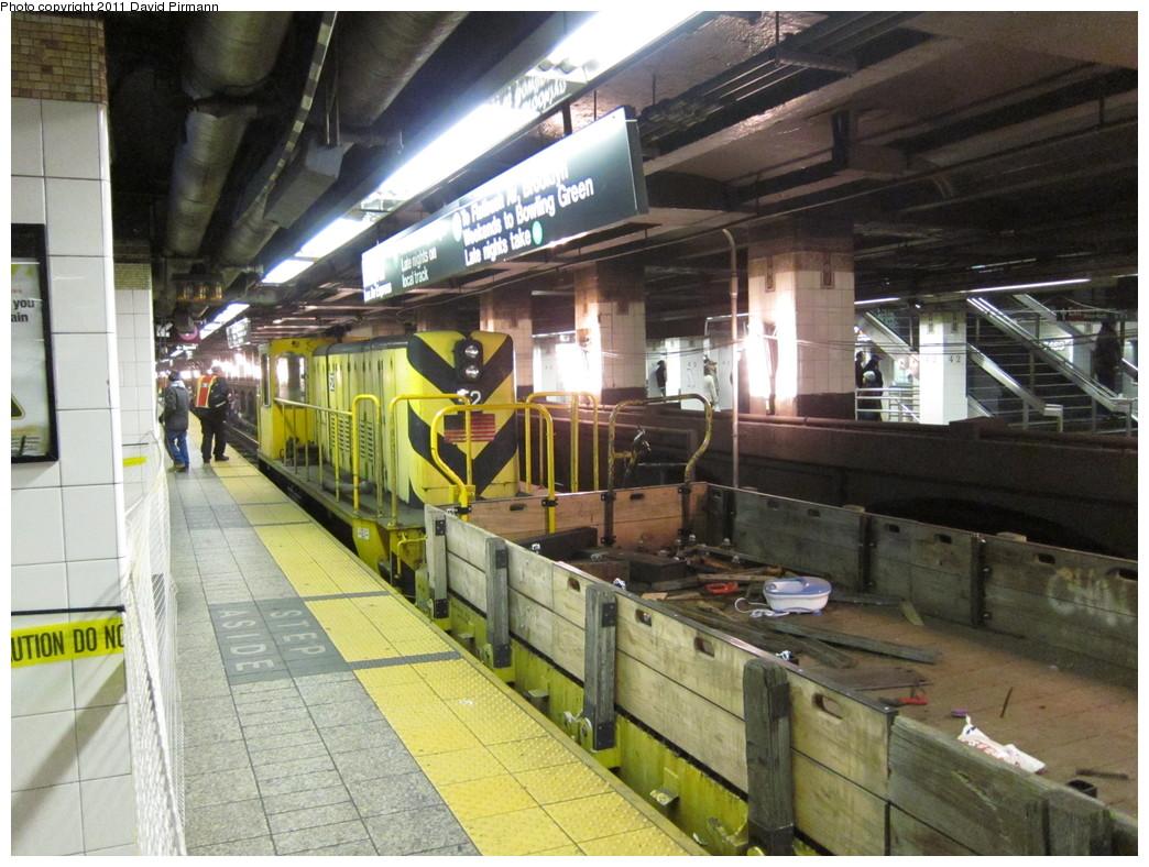 (249k, 1044x788)<br><b>Country:</b> United States<br><b>City:</b> New York<br><b>System:</b> New York City Transit<br><b>Line:</b> IRT East Side Line<br><b>Location:</b> Grand Central <br><b>Route:</b> Work Service<br><b>Car:</b> R-37 Locomotive  52 <br><b>Photo by:</b> David Pirmann<br><b>Date:</b> 4/9/2011<br><b>Viewed (this week/total):</b> 1 / 1138