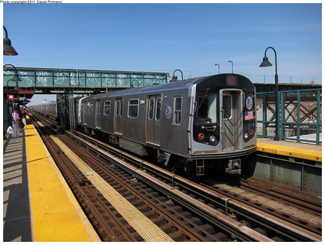 (255k, 1044x788)<br><b>Country:</b> United States<br><b>City:</b> New York<br><b>System:</b> New York City Transit<br><b>Line:</b> BMT Canarsie Line<br><b>Location:</b> Livonia Avenue <br><b>Route:</b> L<br><b>Car:</b> R-143 (Kawasaki, 2001-2002) 8164 <br><b>Photo by:</b> David Pirmann<br><b>Date:</b> 4/9/2011<br><b>Viewed (this week/total):</b> 0 / 941