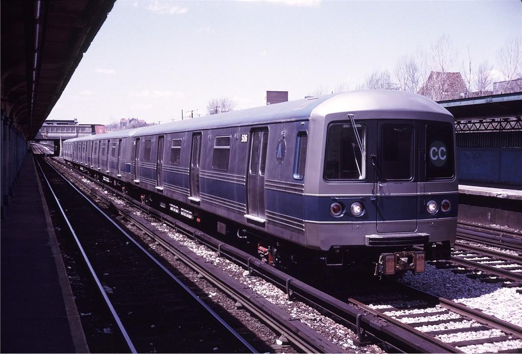 (204k, 1024x694)<br><b>Country:</b> United States<br><b>City:</b> New York<br><b>System:</b> New York City Transit<br><b>Line:</b> BMT Sea Beach Line<br><b>Location:</b> Fort Hamilton Parkway <br><b>Car:</b> R-46 (Pullman-Standard, 1974-75) 506 <br><b>Photo by:</b> Doug Grotjahn<br><b>Collection of:</b> Joe Testagrose<br><b>Date:</b> 4/26/1975<br><b>Viewed (this week/total):</b> 4 / 1457