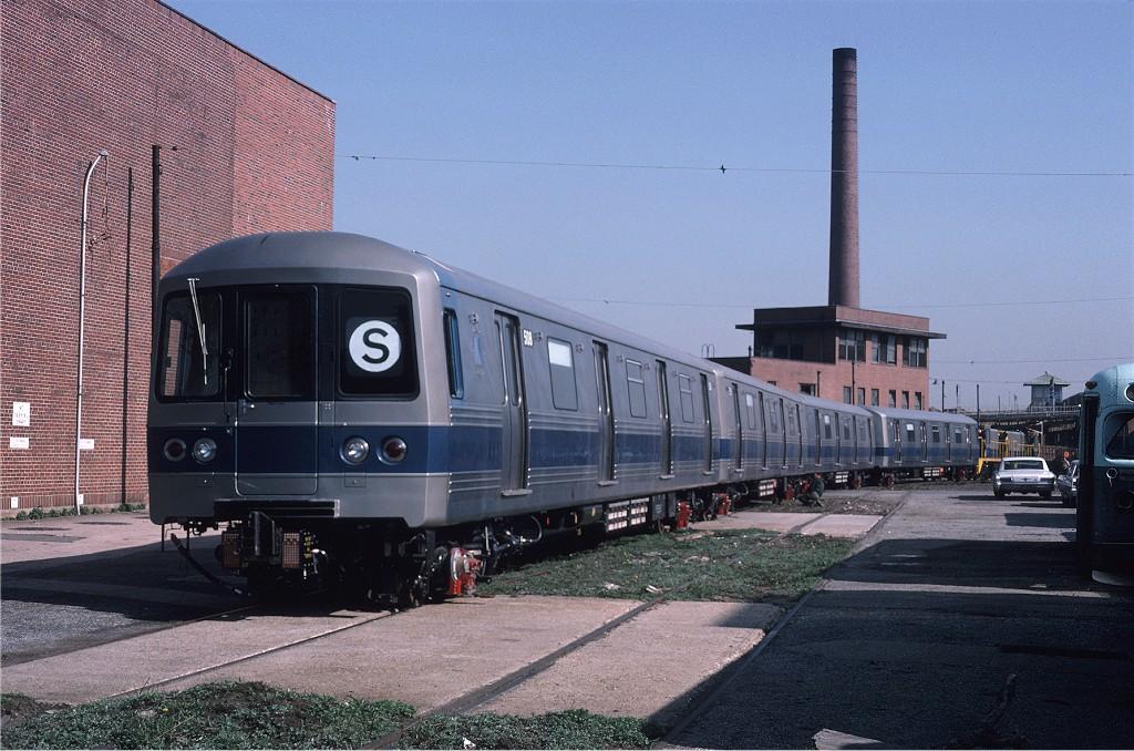 (214k, 1024x678)<br><b>Country:</b> United States<br><b>City:</b> New York<br><b>System:</b> New York City Transit<br><b>Location:</b> Coney Island Yard<br><b>Car:</b> R-46 (Pullman-Standard, 1974-75) 515 <br><b>Photo by:</b> Steve Zabel<br><b>Collection of:</b> Joe Testagrose<br><b>Date:</b> 4/23/1975<br><b>Viewed (this week/total):</b> 0 / 1003