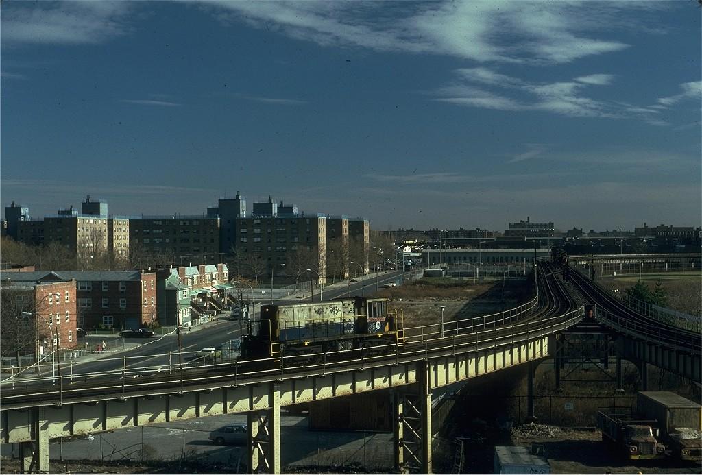 (199k, 1024x693)<br><b>Country:</b> United States<br><b>City:</b> New York<br><b>System:</b> New York City Transit<br><b>Line:</b> BMT West End Line<br><b>Location:</b> Bay 50th Street <br><b>Route:</b> Work Service<br><b>Car:</b> R-47 Locomotive  68 <br><b>Photo by:</b> Steve Zabel<br><b>Collection of:</b> Joe Testagrose<br><b>Date:</b> 12/10/1981<br><b>Viewed (this week/total):</b> 0 / 1336