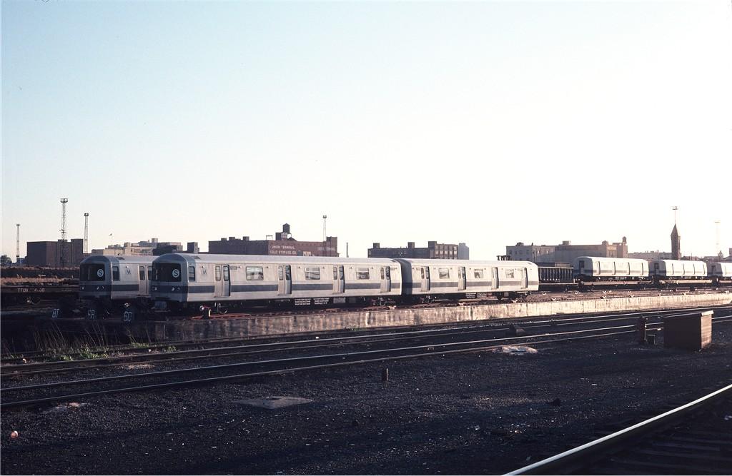 (148k, 1024x667)<br><b>Country:</b> United States<br><b>City:</b> Hoboken, NJ<br><b>System:</b> New York City Transit<br><b>Location:</b> Hoboken Yard <br><b>Car:</b> R-46 (Pullman-Standard, 1974-75) 626 <br><b>Photo by:</b> Steve Zabel<br><b>Collection of:</b> Joe Testagrose<br><b>Date:</b> 5/3/1976<br><b>Viewed (this week/total):</b> 1 / 821