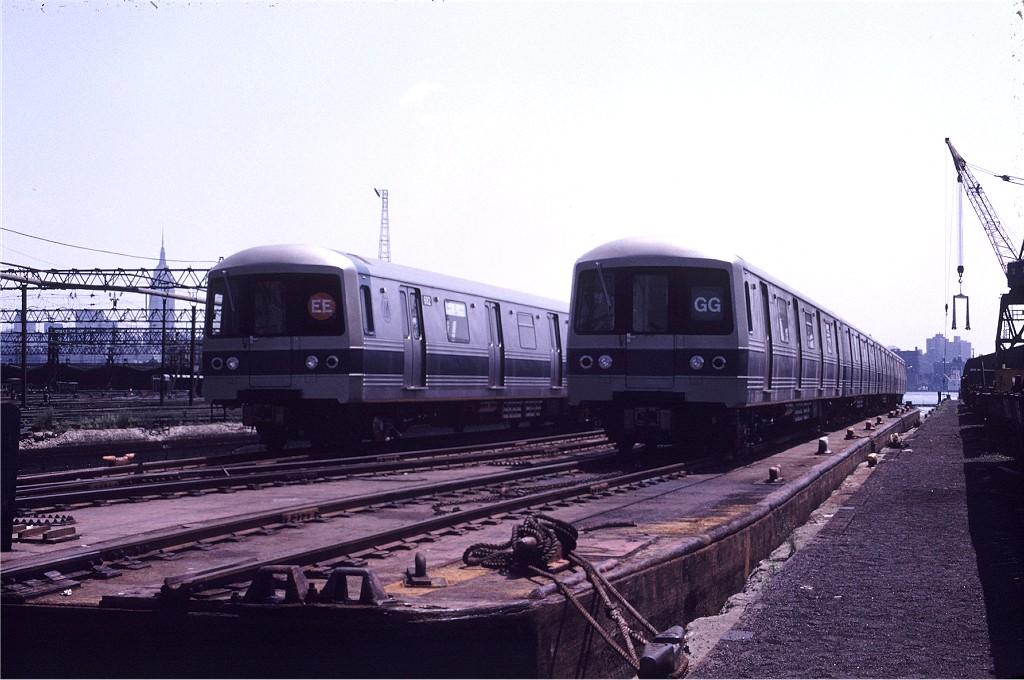 (175k, 1024x680)<br><b>Country:</b> United States<br><b>City:</b> Hoboken, NJ<br><b>System:</b> New York City Transit<br><b>Location:</b> Hoboken Yard <br><b>Car:</b> R-46 (Pullman-Standard, 1974-75) 684 <br><b>Photo by:</b> Gerald H. Landau<br><b>Collection of:</b> Joe Testagrose<br><b>Date:</b> 6/27/1976<br><b>Viewed (this week/total):</b> 1 / 931