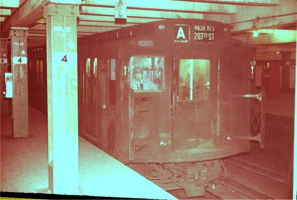 (186k, 1024x691)<br><b>Country:</b> United States<br><b>City:</b> New York<br><b>System:</b> New York City Transit<br><b>Line:</b> IND 8th Avenue Line<br><b>Location:</b> West 4th Street/Washington Square <br><b>Route:</b> A<br><b>Car:</b> R-4 (American Car & Foundry, 1932-1933) 846 <br><b>Photo by:</b> Steve Zabel<br><b>Collection of:</b> Joe Testagrose<br><b>Viewed (this week/total):</b> 2 / 1400