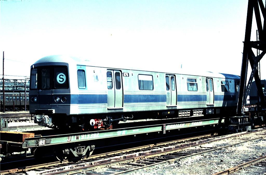 (217k, 1024x674)<br><b>Country:</b> United States<br><b>City:</b> Hoboken, NJ<br><b>System:</b> New York City Transit<br><b>Location:</b> Hoboken Yard <br><b>Car:</b> R-46 (Pullman-Standard, 1974-75) 876 <br><b>Photo by:</b> Ed McKernan<br><b>Collection of:</b> Joe Testagrose<br><b>Date:</b> 3/11/1977<br><b>Viewed (this week/total):</b> 1 / 757
