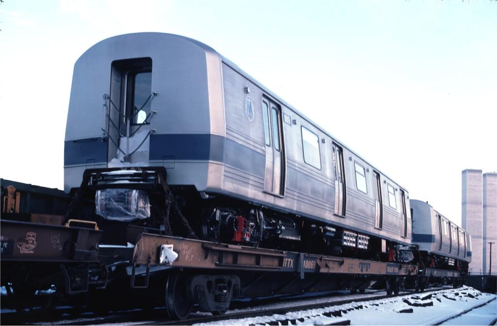 (116k, 1024x672)<br><b>Country:</b> United States<br><b>City:</b> Hoboken, NJ<br><b>System:</b> New York City Transit<br><b>Location:</b> Hoboken Yard <br><b>Car:</b> R-46 (Pullman-Standard, 1974-75) 889 <br><b>Photo by:</b> Ed McKernan<br><b>Collection of:</b> Joe Testagrose<br><b>Date:</b> 12/27/1976<br><b>Viewed (this week/total):</b> 0 / 528