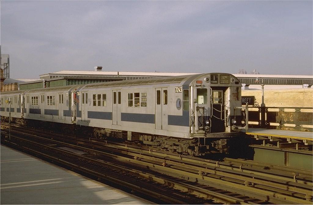 (178k, 1024x672)<br><b>Country:</b> United States<br><b>City:</b> New York<br><b>System:</b> New York City Transit<br><b>Line:</b> IRT West Side Line<br><b>Location:</b> 215th Street <br><b>Route:</b> 1<br><b>Car:</b> R-21 (St. Louis, 1956-57) 7243 <br><b>Photo by:</b> Joe Testagrose<br><b>Date:</b> 5/21/1972<br><b>Viewed (this week/total):</b> 0 / 2725